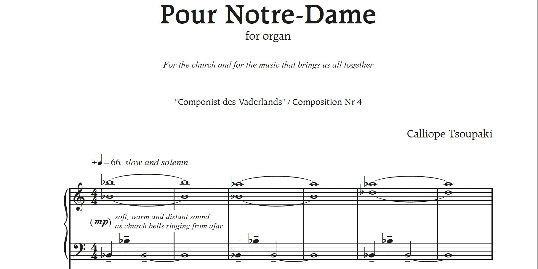 Calliope Tsoupaki schrijft in 1ste jaar als Componist des Vaderlands zes nieuwe stukken