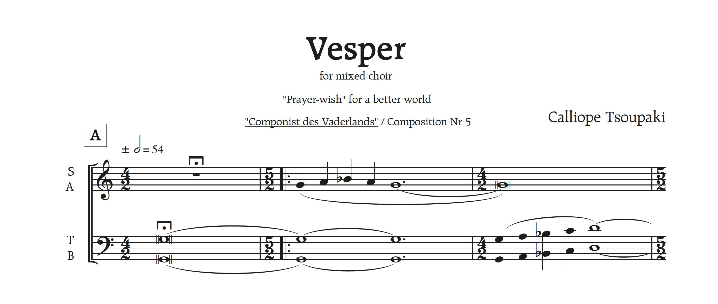 'Vesper' voor gemengd koor