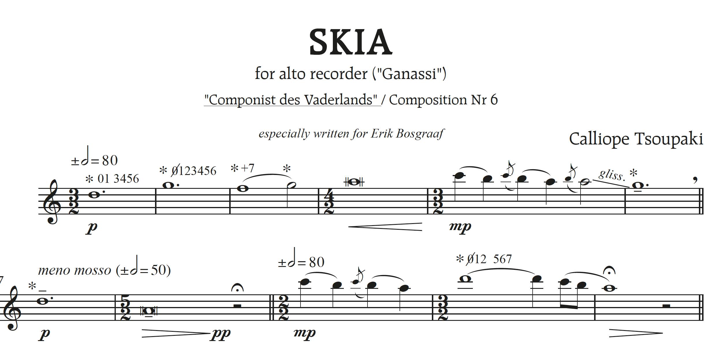 'Skia' voor altblokfluit