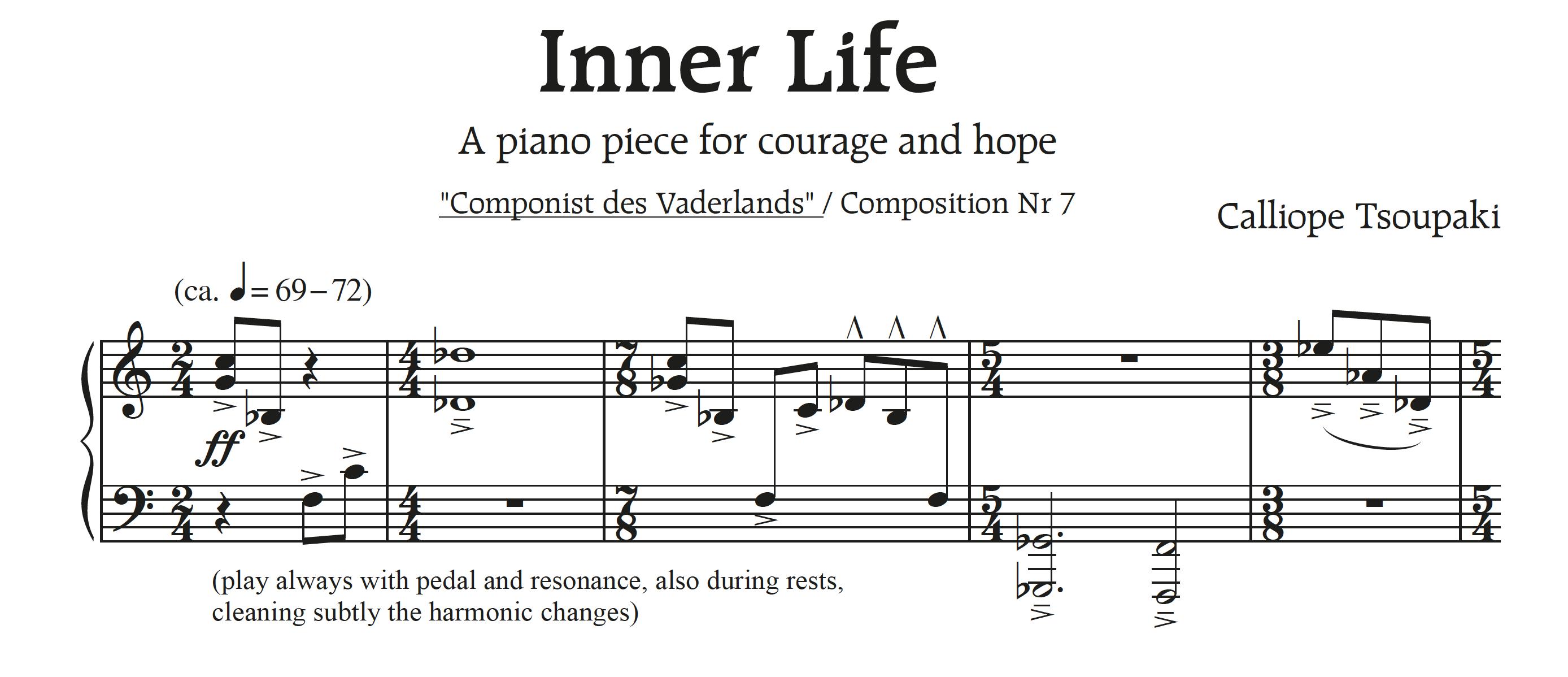 'Inner Life' voor piano solo