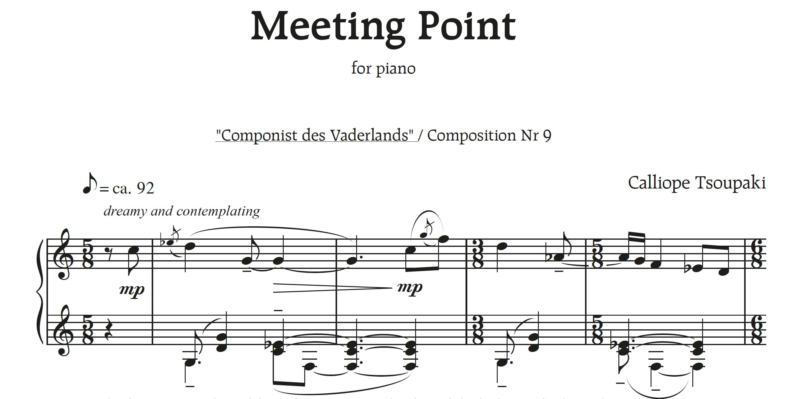 'Meeting Point' voor piano solo