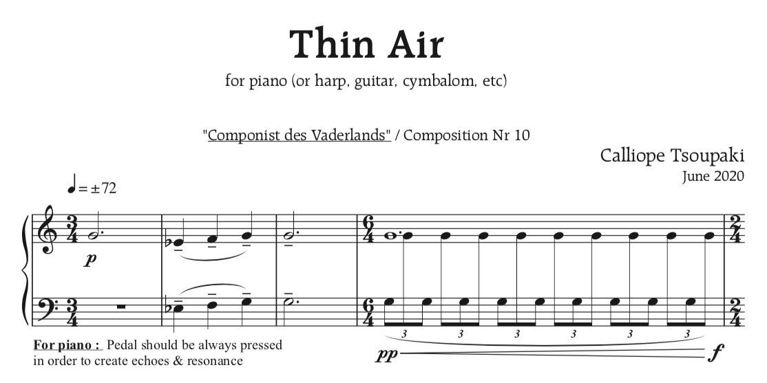 'Thin Air' – solostuk voor Festivals for Compassion